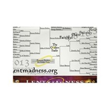 Lent Madness 2013 Bracket Rectangle Magnet