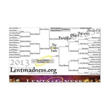 Lent Madness 2013 Bracket Rectangle Car Magnet