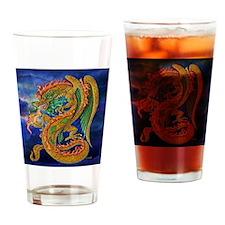 Golden Dragon  16x16 Drinking Glass