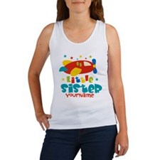 Little Sister Plane - Personalized Women's Tank To