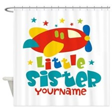 Little Sister Plane - Personalized Shower Curtain