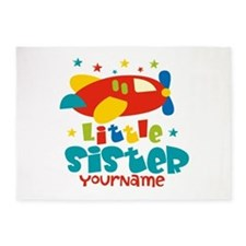 Little Sister Plane - Personalized 5'x7'Area Rug