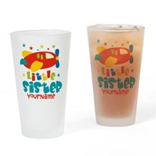 Little Sister Plane - Personalized Drinking Glass