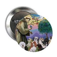 "St Francis-10dogs 2.25"" Button"