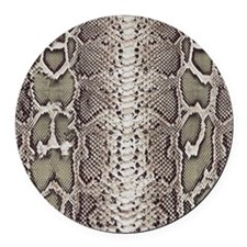 Snakeskin Animal Print Round Car Magnet