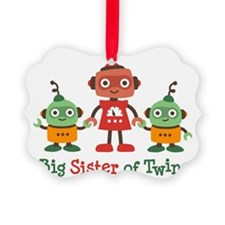 Big Sister of Twins - Retro Robot Ornament