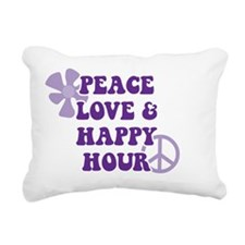 Peace Love and Happy Hou Rectangular Canvas Pillow