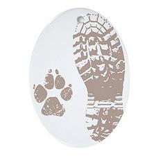 Take a hike Boot n Paw Oval Ornament