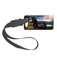Freisian Horse Luggage Tag
