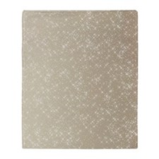 Sparkling Gold and White Throw Blanket