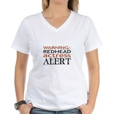 Warning: Redhead Actress Shirt