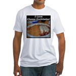 I Love Cheese Enchildas Fitted T-Shirt