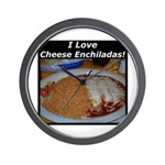 I Love Cheese Enchildas Wall Clock