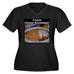 I Love Cheese Enchildas Women's Plus Size V-Neck D