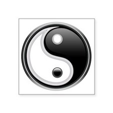 "Yin-Yang Square Sticker 3"" x 3"""