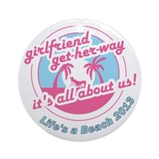 Beach getaway Round Ornament