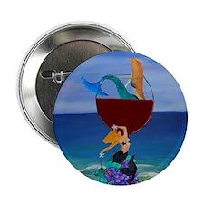 "Mermaid Wine 2.25"" Button"