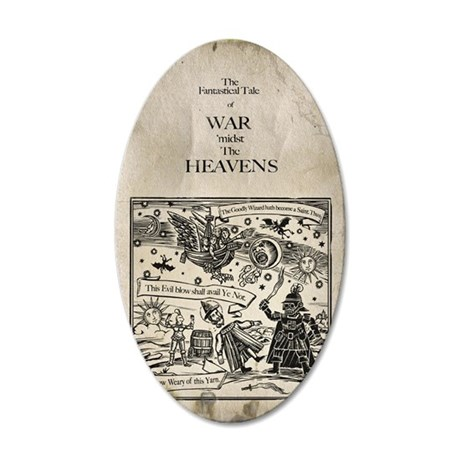 War midst the Heavens. (The  35x21 Oval Wall Decal