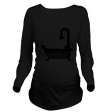 Bath tub Long Sleeve Maternity T-Shirt