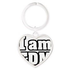 I am EDM Heart Keychain