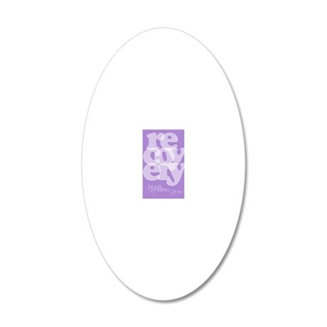 Purple Recovery 20x12 Oval Wall Decal
