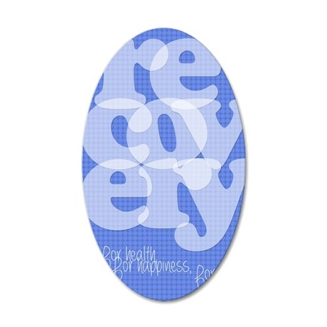 Blue Recovery 35x21 Oval Wall Decal