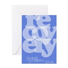 Blue Recovery Greeting Card