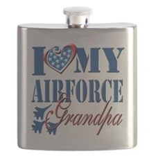 I Love My Airforce Grandpa Flask
