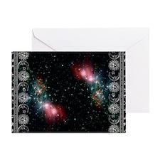zodiac black Greeting Card