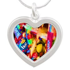 Candy Girl Cat Forsley Desig Silver Heart Necklace