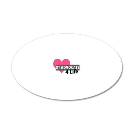 OT Advocate 4 Life 20x12 Oval Wall Decal