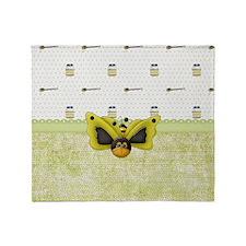 Buzz Buzz Bee Throw Blanket