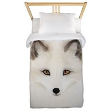 Arctic Fox with Blue Background Twin Duvet