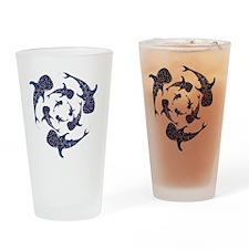 Whale Sahrk Blue Spiral Drinking Glass