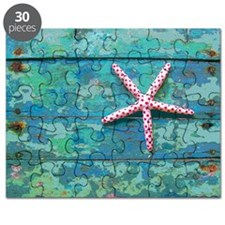 Starfish and Turquoise Rustic Puzzle