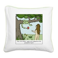 Apples in Eden Square Canvas Pillow