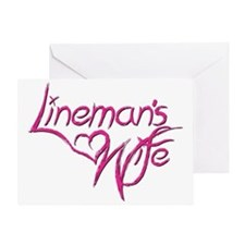 Linemans Wife Greeting Card