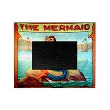 Vintage Mermaid Carnival Poster Picture Frame