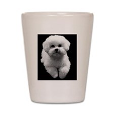 Beau the Beautiful Bichon Shot Glass