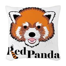 Red Panda Woven Throw Pillow