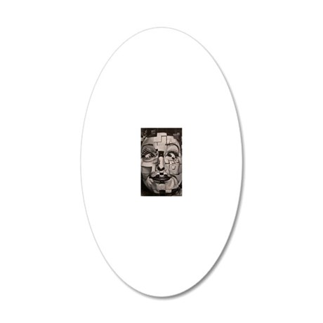 Josephine (Squared) 20x12 Oval Wall Decal