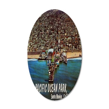Pacific Ocean Park - Santa M 35x21 Oval Wall Decal