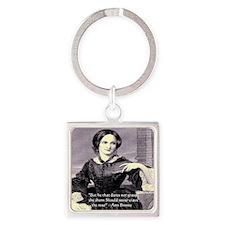 Anne Bronte Square Keychain