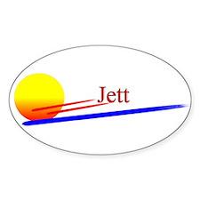 Jett Oval Decal