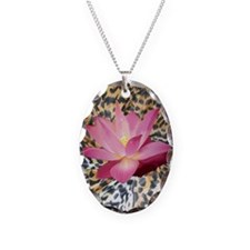 Leopard Lotus Necklace