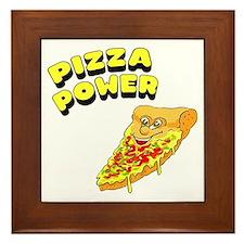Pizza Power Framed Tile