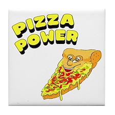 Pizza Power Tile Coaster