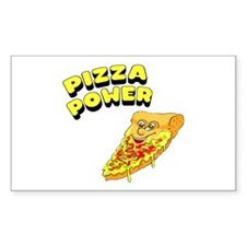 Pizza Power Rectangle Sticker