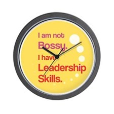 Not Bossy.  Leader. Wall Clock