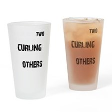 Curling designs Drinking Glass